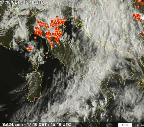Temporali al Nord Italia - sat24.com