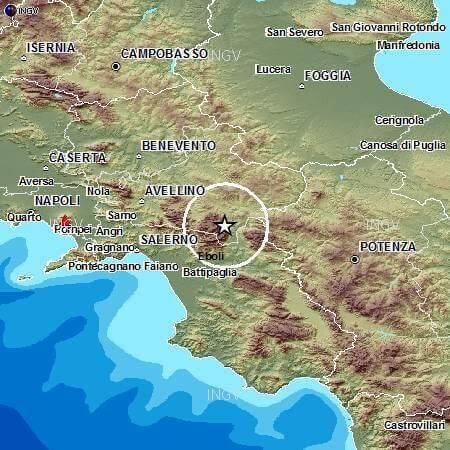 Scossa di terremoto avvertita in Irpinia, magnitudo 3.1 Richter