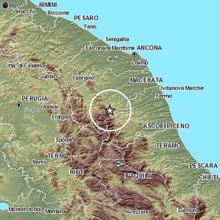 Terremoto Marche oggi 21 Maggio 2015: avvertita scossa di magnitudo 3.4 Richter - INGV