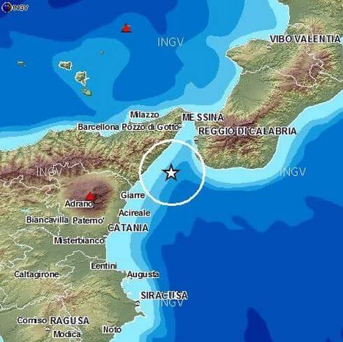Sequenza sismica nello Stretto di Messina, sei scosse di terremoto in un'ora - INGV