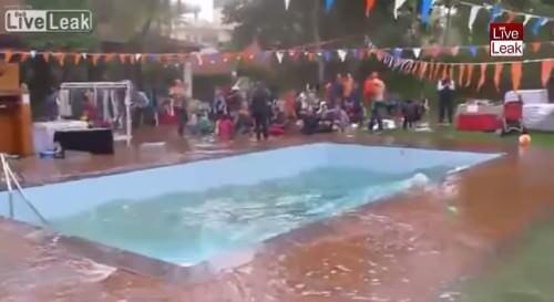 Terremoto Nepal 12 Maggio, il video degli effetti in una piscina - Youtube/LiveLeak