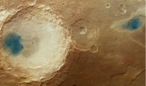 Trovata acqua liquida su Marte? No, si tratta solo della conversione dei colori - ESA
