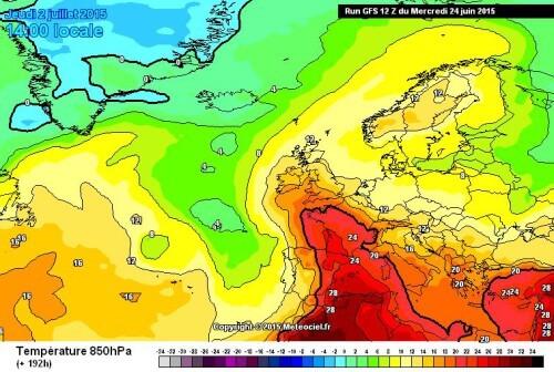 Meteo lungo termine: passi indietro sull'ondata calda di fine mese ed inizio Luglio - www.meteociel.fr