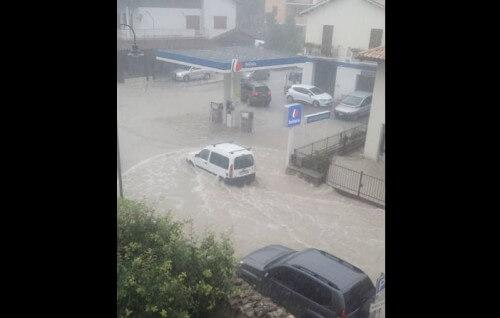 Maltempo Marche alluvione a Visso
