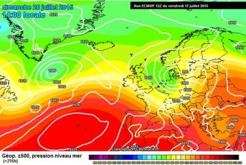 Maltempo in arrivo nella terza decade di Luglio, sarà la fine del grande caldo? - www.meteociel.fr