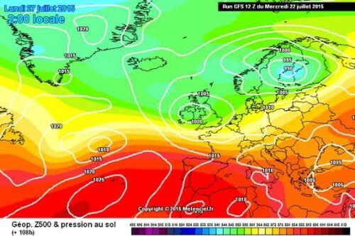 Maltempo fine mese: calo termico al Centro-Nord, temporali forti sulla Pianura Padana - meteociel.fr