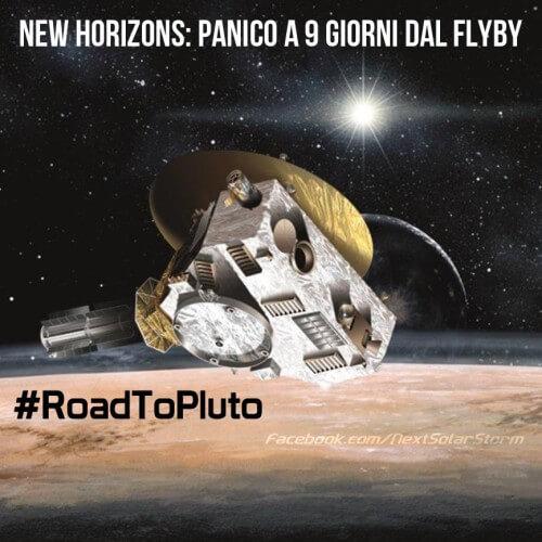 """Sonda Horizon, brutte notizie sulla missione, persi i collegamenti - Fonte """"Chi ha paura del buio?"""" Pagina Facebook"""