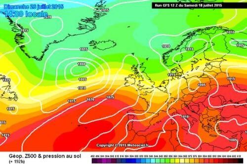 Maltempo dopo il grande caldo, GFS fa un passo indietro - www.meteociel.fr