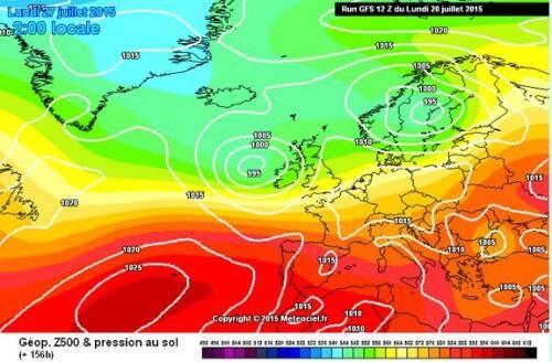 Maltempo fine mese: i modelli matematici confermano i temporali al Centro-Nord - www.meteociel.fr