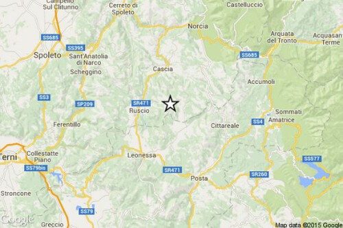 Terremoto Umbria Lazio Marche: appena avvertita scossa di magnitudo 3.0 della scala Richter - INGV