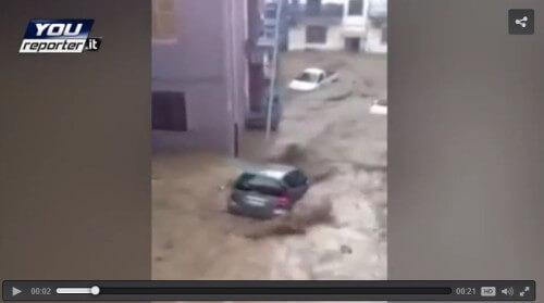 Alluvione Calabria: video da Rossano, gravi danni a Corigliano Calabro