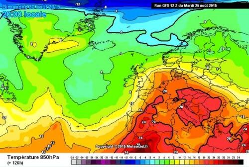 Confermata l'ondata calda in arrivo, sarà molto duratura - www.meteociel.fr