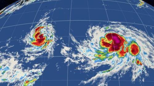 Tifoni Goni ed Atsani puntano Filippine e Giappone, entrambi sono di quarta categoria - www.weather.com