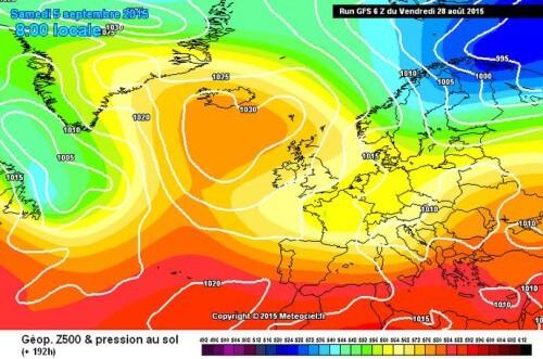 Tendenza meteo: confermata la forte perturbazione ad inizio Settembre, tracollo termico in arrivo - www.meteociel.fr