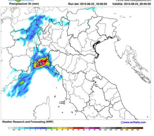 Maltempo in Liguria: nelle prossime 24 ore possibili nubifragi a Genova e dintorni - www.meteotreviglio.com