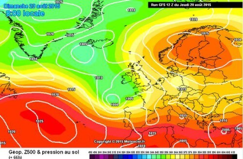 Tendenza meteo: maltempo nel week end poi temperature in aumento - www.meteociel.fr