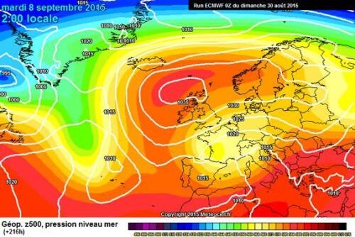 Tendenza meteo: Estate ai titoli di coda, da Settembre serie di forti perturbazioni - www,meteociel.fr