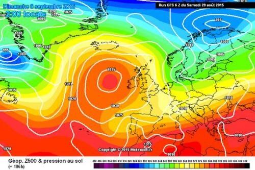 Tendenza meteo: serie di forti fasi di maltempo tra 2 e 10 Settembre - www.meteociel.fr