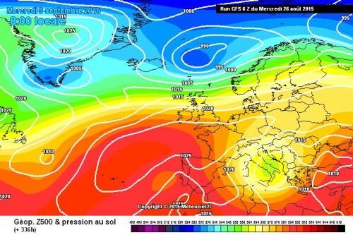 Meteo Settembre: possibile forte perturbazione in arrivo con tracollo termico - www.meteociel.fr