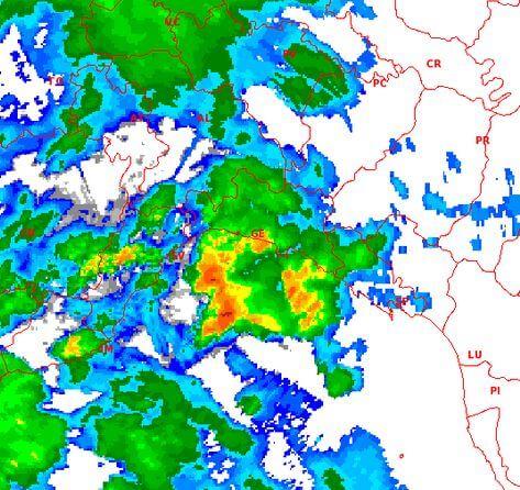 Nubifragio Genova: notte di passione per parte della Liguria, temporali attesi su Piemonte, Toscana e Lombardia - radar Settepani
