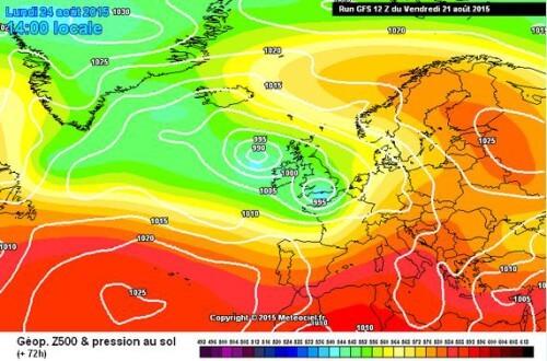 Perturbazione in arrivo tra Domenica e Martedì, al Centro-Nord potrebbe essere forte - www.meteociel.fr