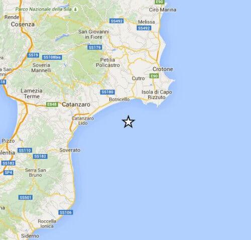 Scossa di terremoto a largo della Calabria, magnitudo 3.1 Richter - INGV