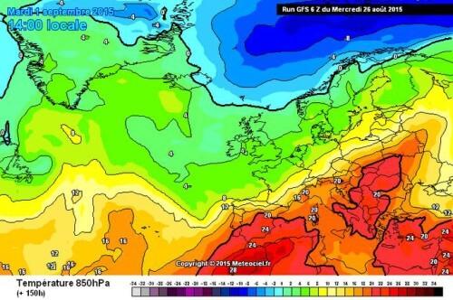 Tendenza meteo: caldo e stabilità in arrivo, da Settembre si cambia registro - www.meteociel.fr