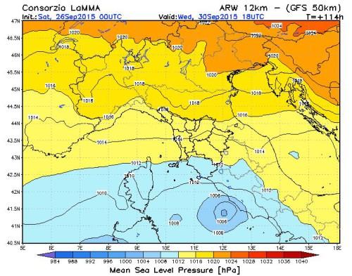 ciclone mediterraneo prossima settimana