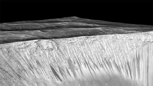 cratere acqua aree marte