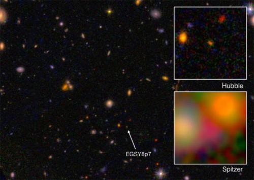 galassia EGS8p7 più lontana