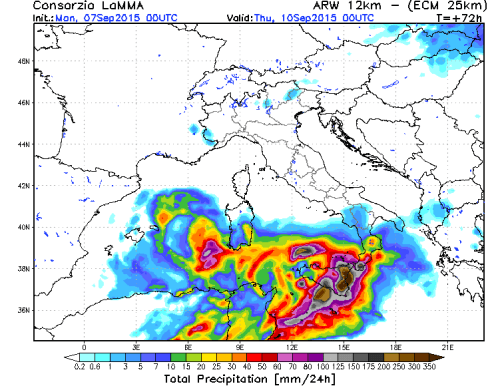 Rischio alluvioni-lampo al Sud Italia, nubifragi, grandine e forti temporali