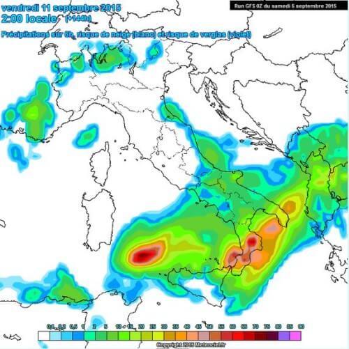 Forti temporali in arrivo al Sud Italia, possibili nubifragi e grandine tra 10 e 12 Settembre