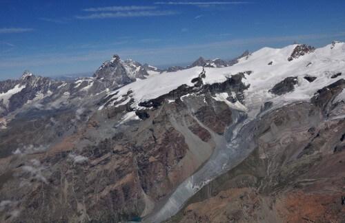 riduzione ghiacciai sulle alpi