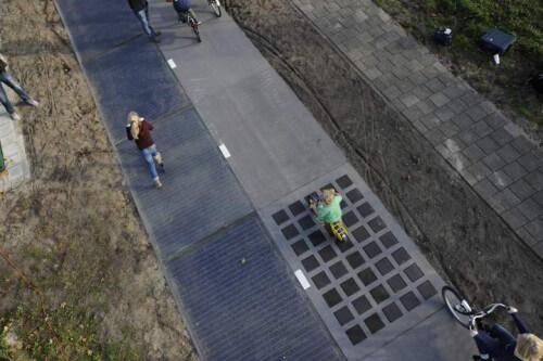 La prima pista ciclabile solare in Olanda
