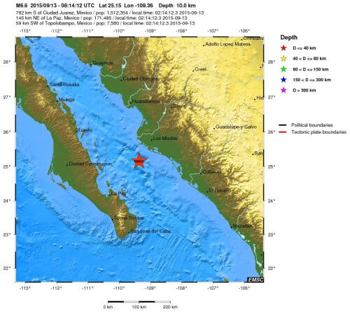 Terremoto Messico: forte scossa di magnitudo 6.6 Richter  - EMSC