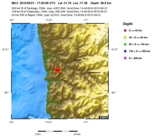 terremoto cile 21 settembre
