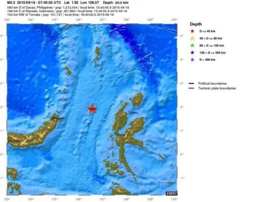 terremoto isole mollucche