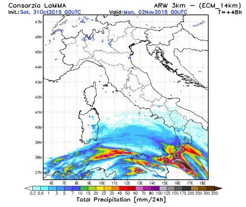 maltempo sud italia domani