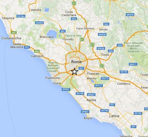 terremoto roma sud