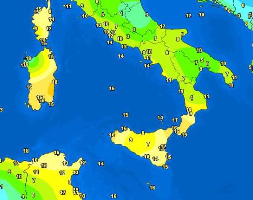 Temperature 8 Gennaio
