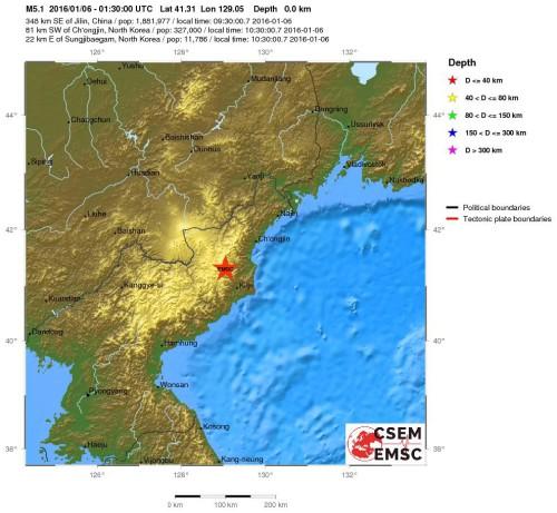 terremoto nord corea