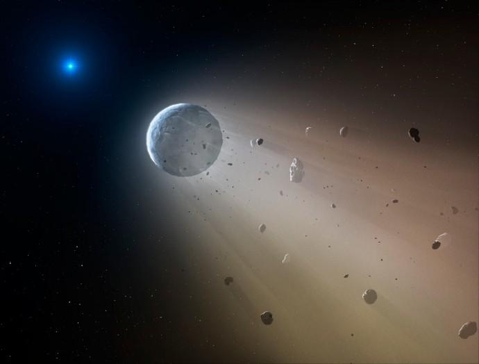 Spazio, osservata una nana bianca che distrugge un pianeta nano