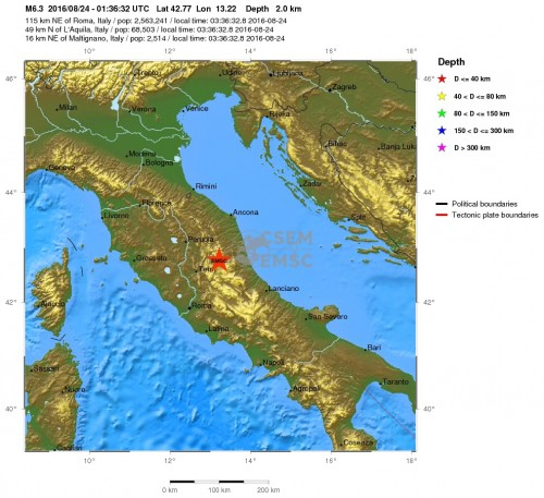 terremoto oggi 24 agosto