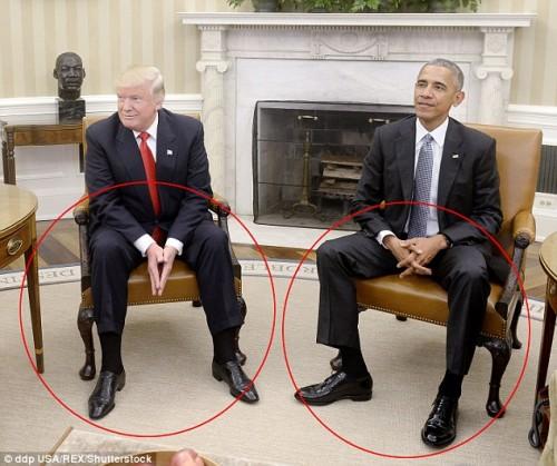 trump obama linguaggio corpo