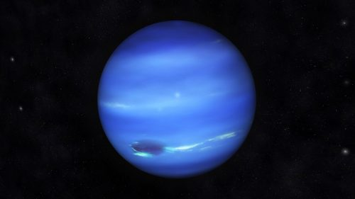 Digital Illustration of Planet Neptune